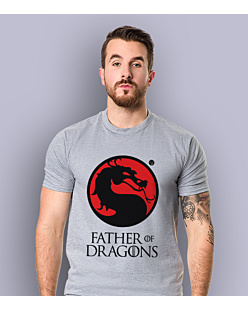 Father of Dragons T-shirt męski Jasny melanż S