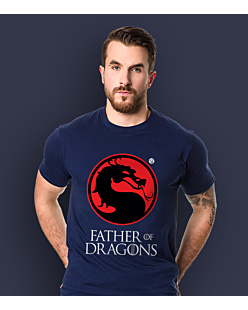 Father of Dragons T-shirt męski Granatowy S