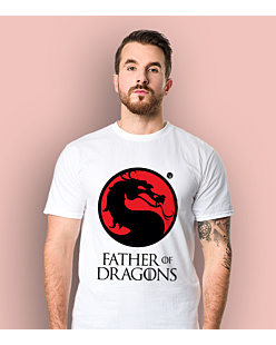 Father of Dragons T-shirt męski Biały S
