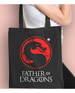 Father of Dragons Torba na zakupy Czarna Universal