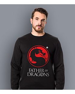 Father of Dragons Bluza prosta męska Czarna S