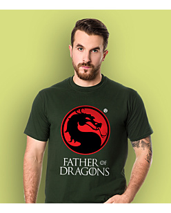 Father of Dragons T-shirt męski Ciemnozielony S