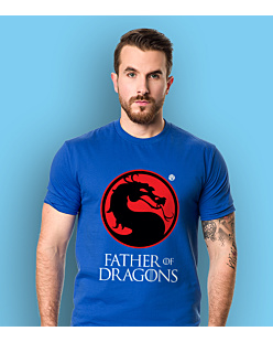 Father of Dragons T-shirt męski Niebieski S