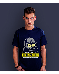 Join the Dark Side T-shirt męski Granatowy S