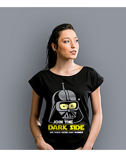 Join the Dark Side T-shirt damski Czarny XS