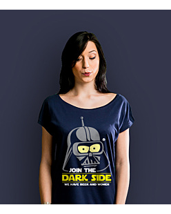 Join the Dark Side T-shirt damski Granatowy XS