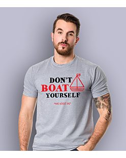 Don't Boat Yourself T-shirt męski Jasny melanż L