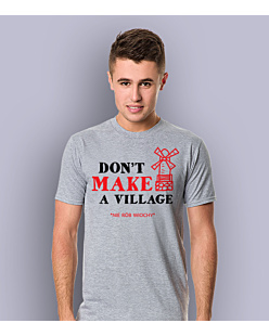 Don't make a village T-shirt męski Jasny melanż L