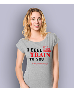 I feel train to You T-shirt damski Jasny melanż XS