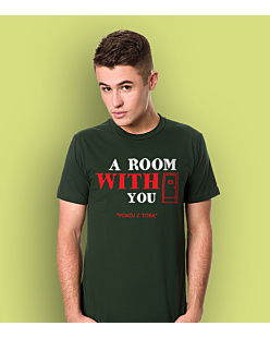 A Room With You T-shirt męski Ciemnozielony L
