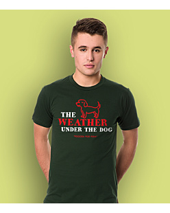 Weather Under The Dog T-shirt męski Ciemnozielony L