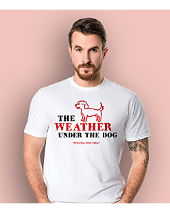 Weather Under The Dog T-shirt męski Biały L