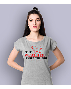 Weather Under The Dog T-shirt damski Jasny melanż XS