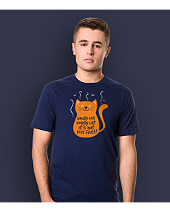 Smelly Cat T-shirt męski Granatowy S