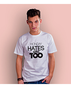 Monday Hates You Too WS T-shirt męski Biały S