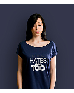 Monday Hates You Too WS T-shirt damski Granatowy XXL