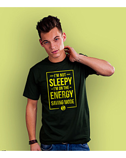 Energy Saving Mode T-shirt męski Ciemnozielony S