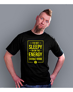 Energy Saving Mode T-shirt męski Czarny S