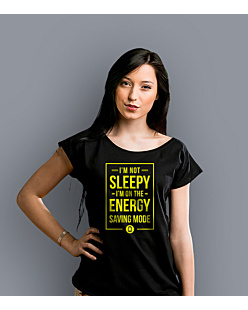 Energy Saving Mode T-shirt damski Czarny XS