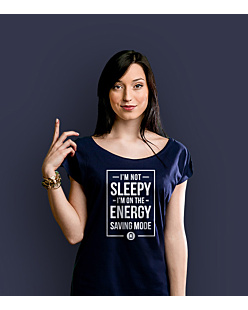 Energy Saving Mode T-shirt damski Granatowy XS