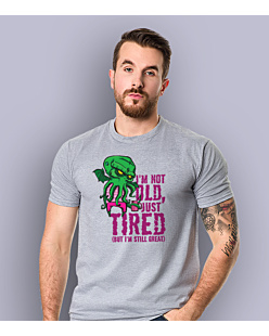 Cthulhu - Just tired T-shirt męski Jasny melanż S