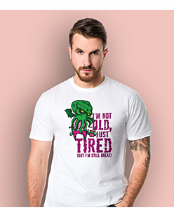 Cthulhu - Just tired T-shirt męski Biały S