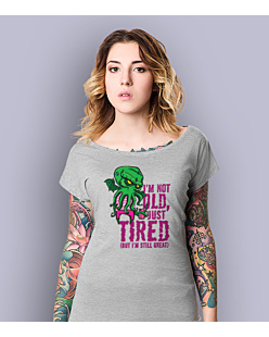 Cthulhu - Just tired T-shirt damski Jasny melanż XS