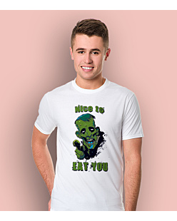 Nice to eat You T-shirt męski Biały S