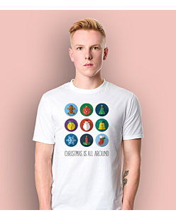 Christmas is all around T-shirt męski Biały S