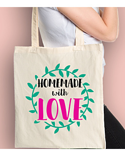 Homemade with love Torba na zakupy Naturalna Universal