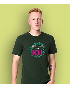 Homemade with love T-shirt męski Ciemnozielony L