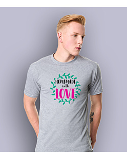 Homemade with love T-shirt męski Jasny melanż S