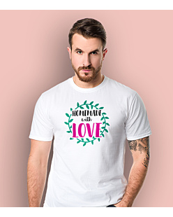 Homemade with love T-shirt męski Biały S