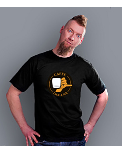 Coffee like a sir T-shirt męski Czarny S