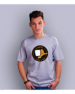Coffee like a sir T-shirt męski Jasny melanż S