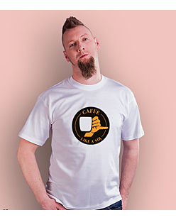 Coffee like a sir T-shirt męski Biały S