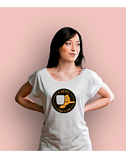 Coffee like a sir T-shirt damski Biały XS