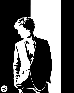 Sherlock black and white