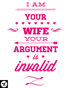 I am your wife argument